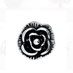 3/$15 🖤 Origami Owl Vintage Silver Rose Charm